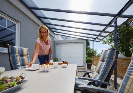 Terrassendachbausatz 5,46 x 3,06 m anthrazit
